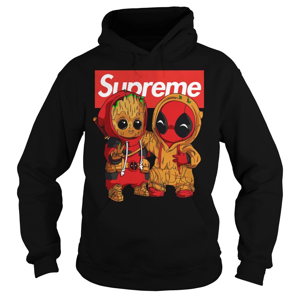 Baby Groot And Deadpool Supreme hoodie