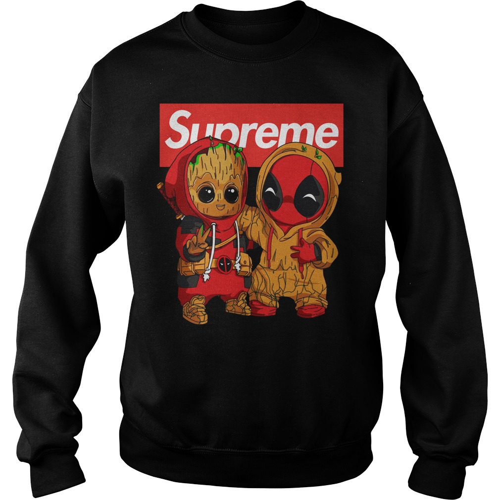 Baby Groot And Deadpool Supreme sweater