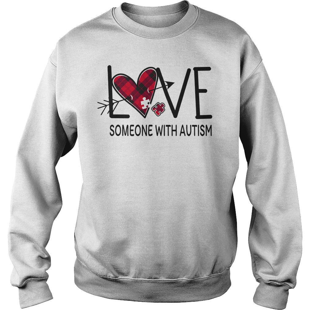 Original Love someone with autism sweater