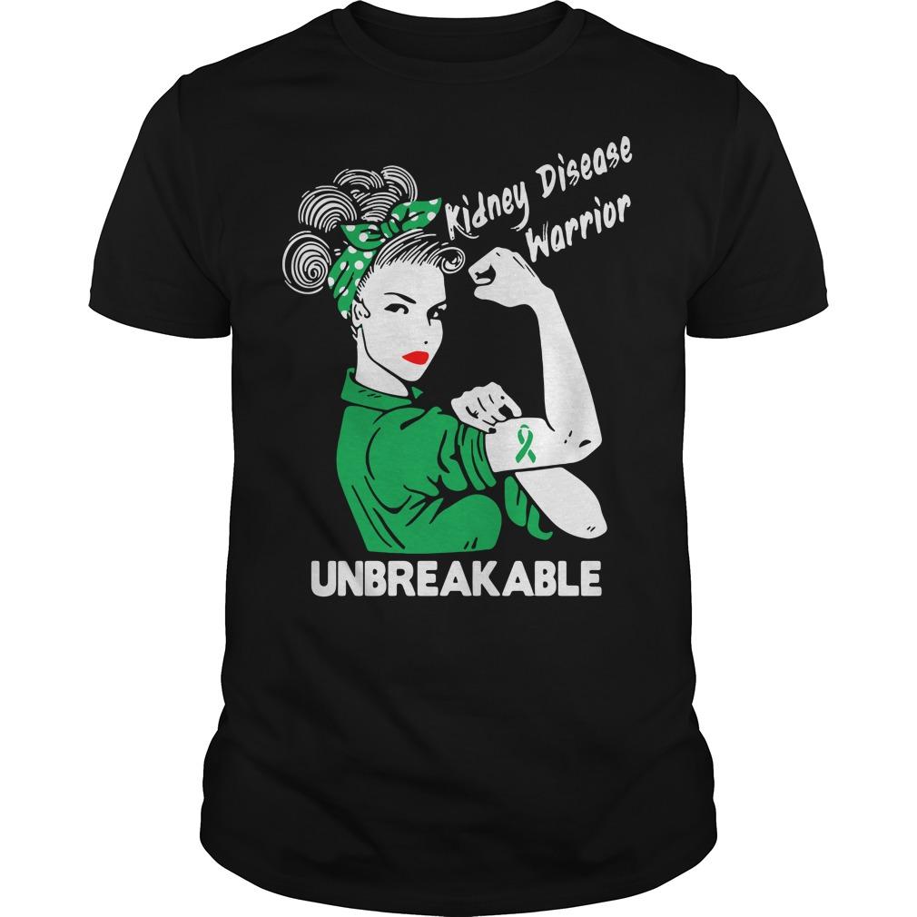 Kidney disease warrior unbreakable shirt