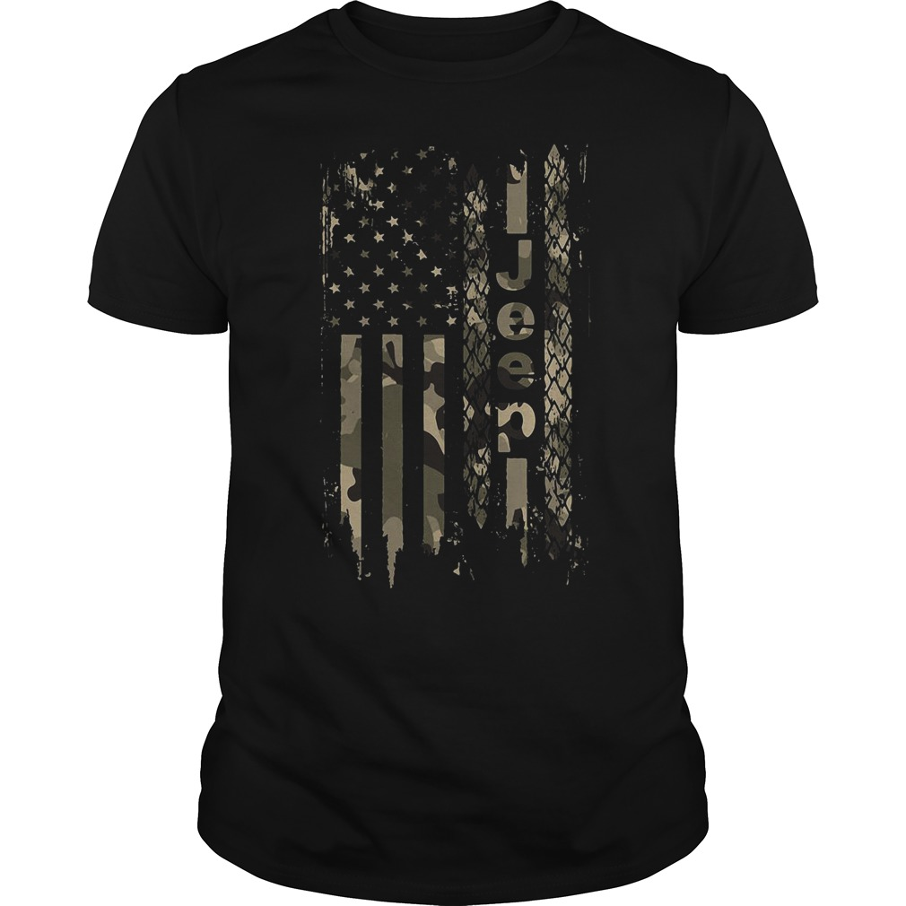 American flag jeep Guys shirt
