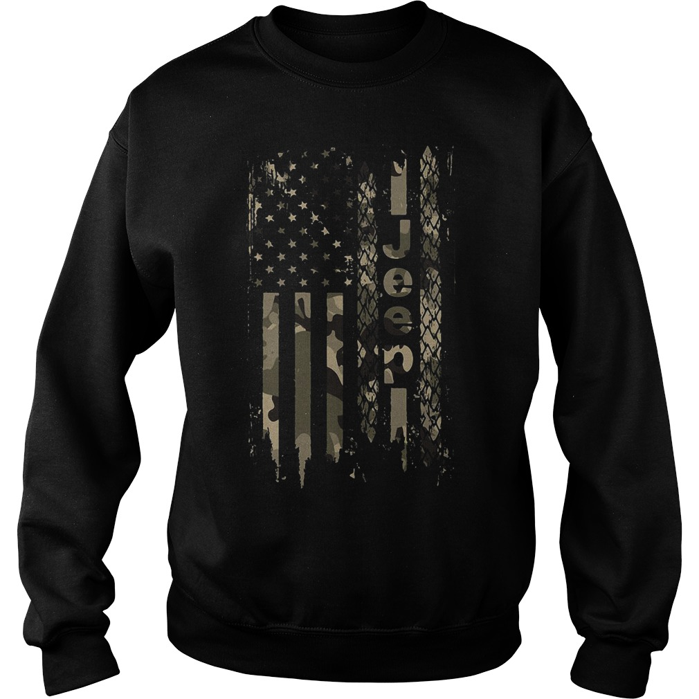 American flag jeep Sweater