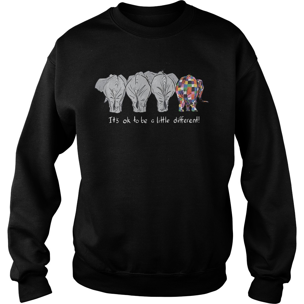 Autism Elephants it's ok to be a little different Sweater