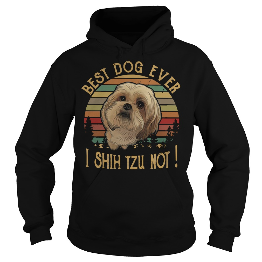 Best dog ever I Shih Tzu not vintage Hoodie