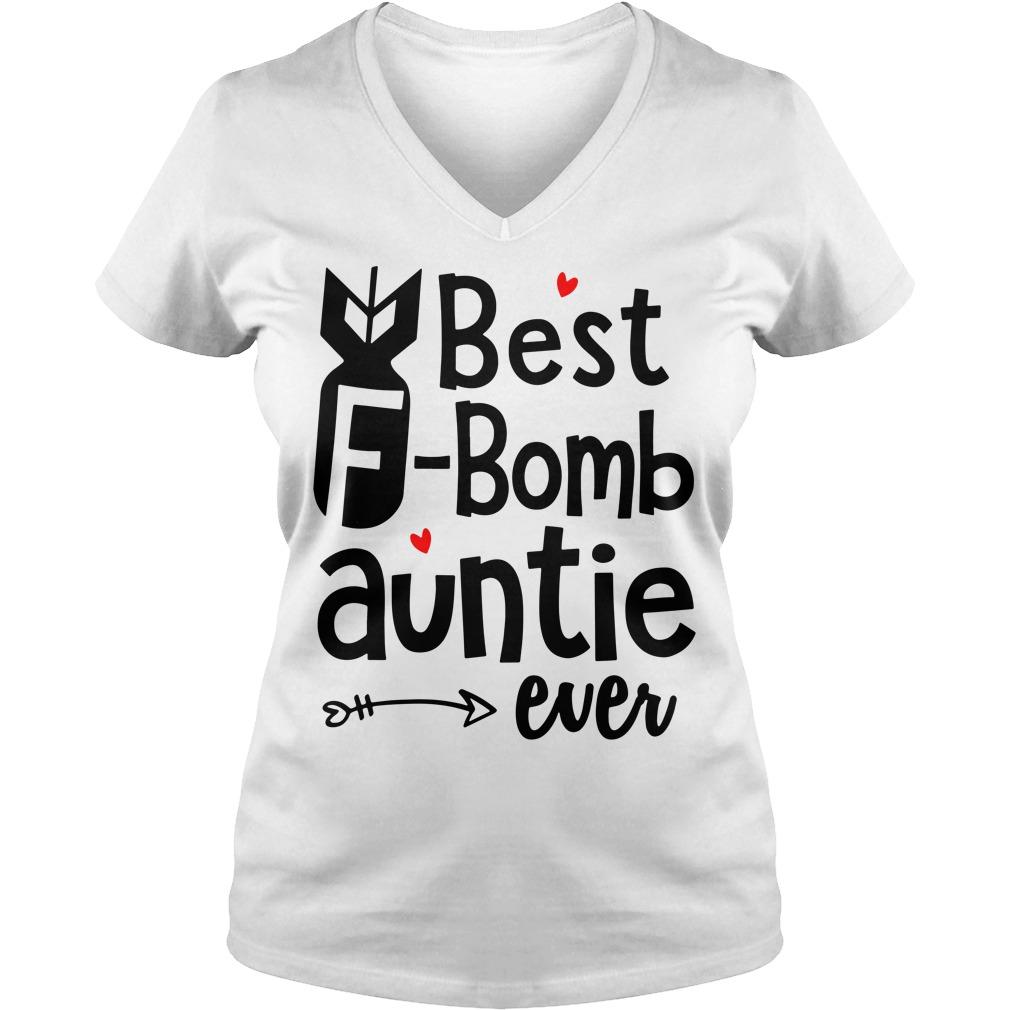Best F-bomb auntie ever V-ncek T-shirt