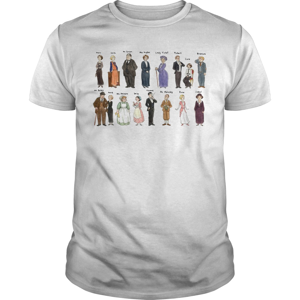 All character Downton Abbey Portraits shirt