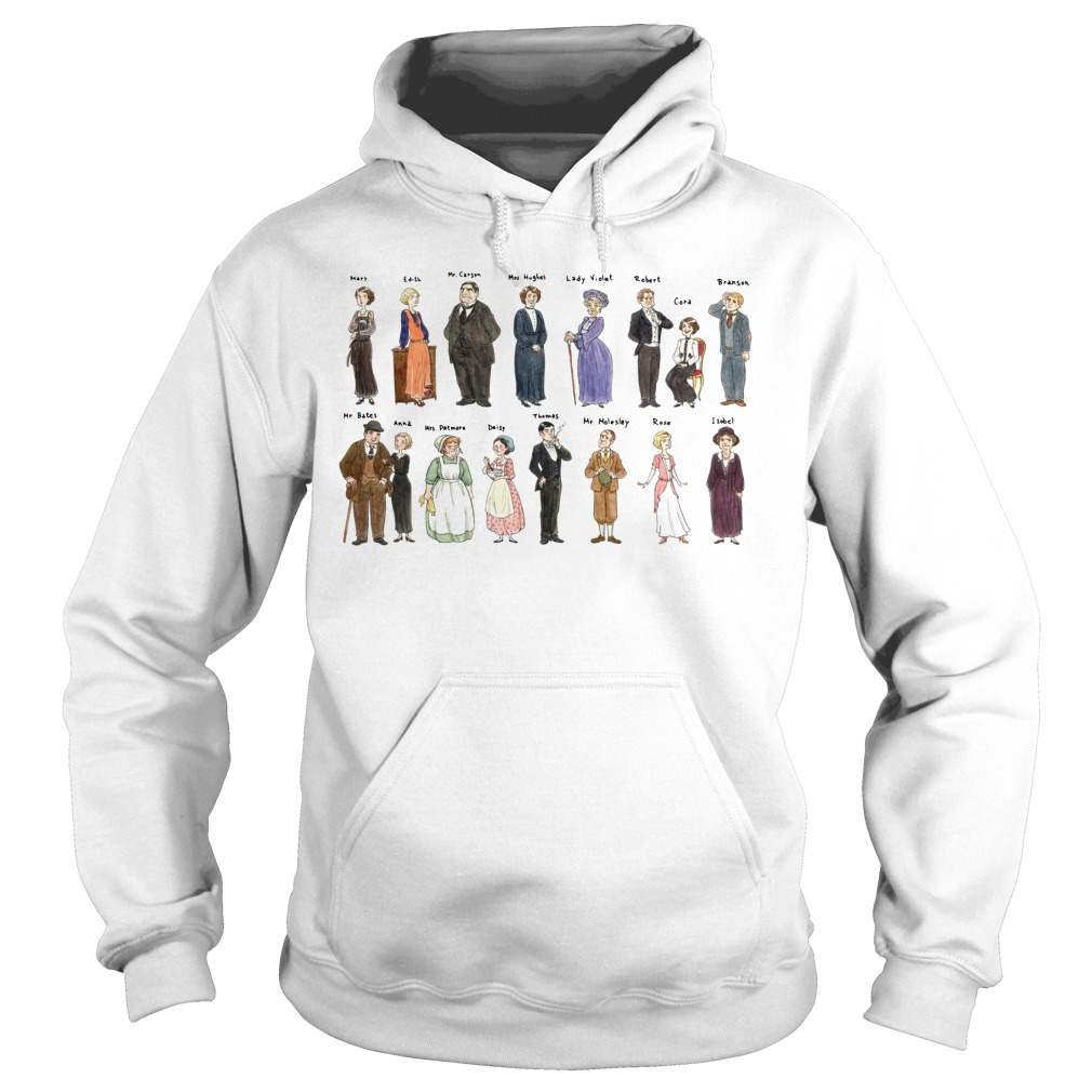 All character Downton Abbey Portraits Hoodie