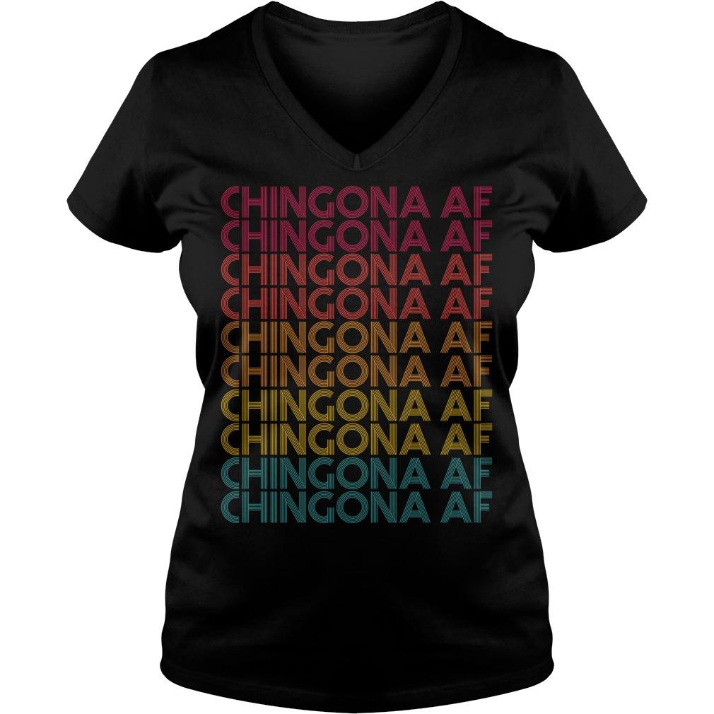 Chingona AF Chingona AF Chingona AF vintage V-neck T-shirt