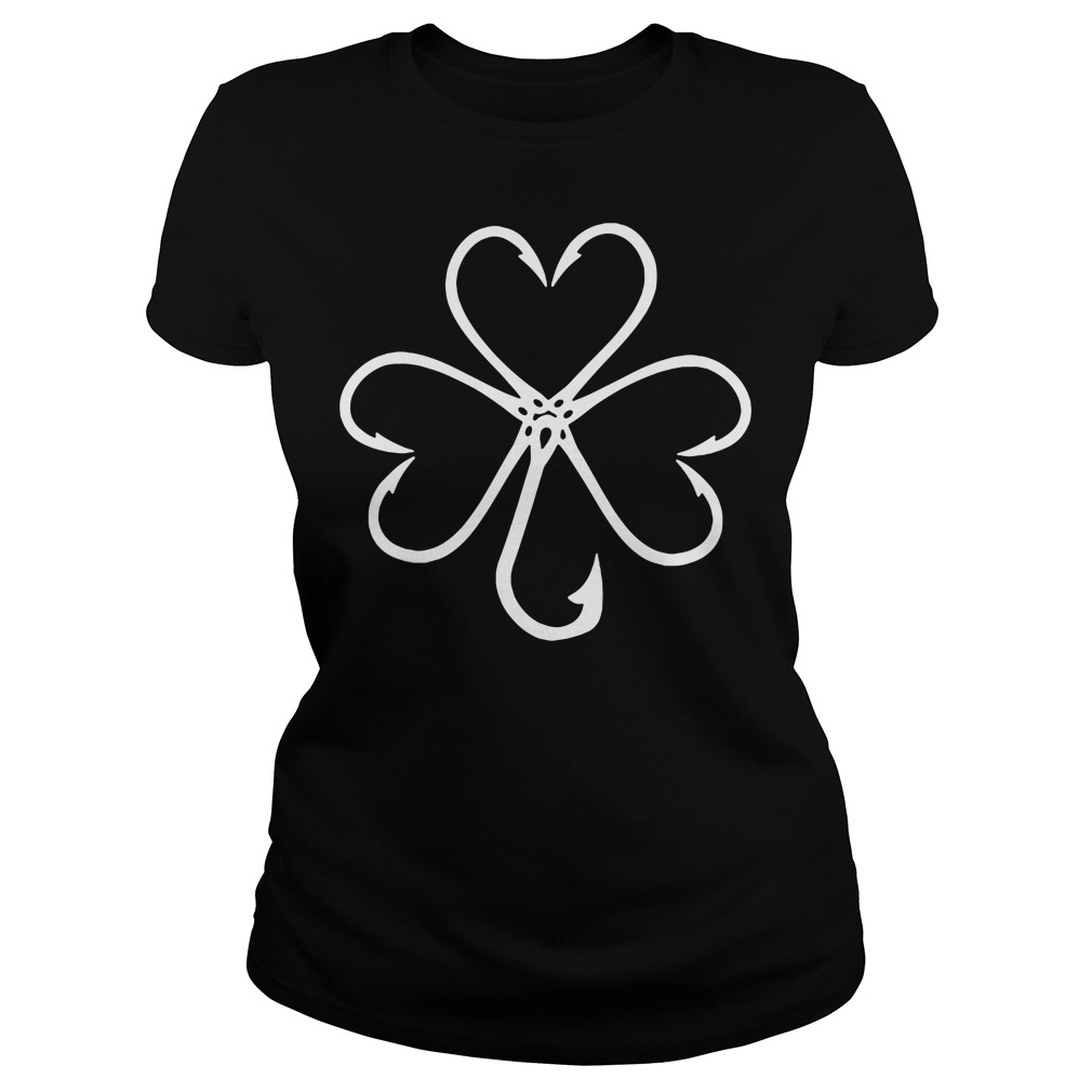 Clover make from fishing hooks Ladies tee