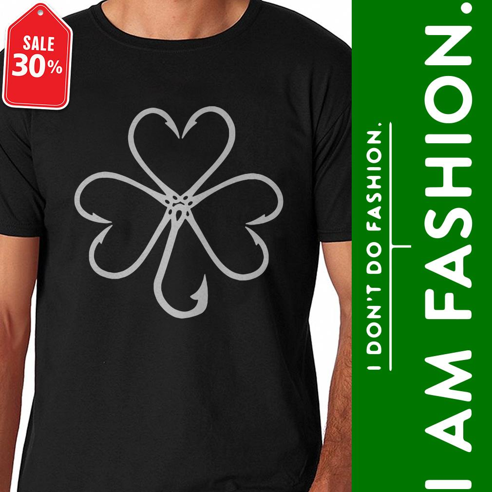 Clover make from fishing hooks shirt