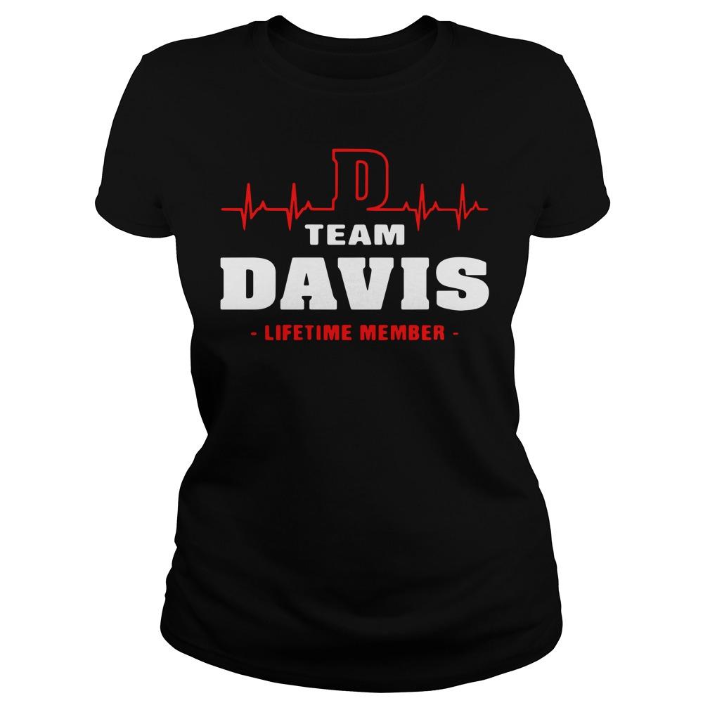 D team Davis lifetime member Ladies tee