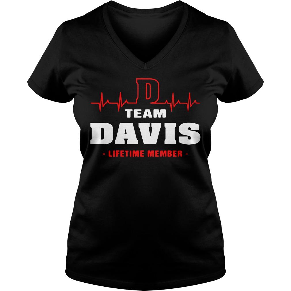 D team Davis lifetime member V-neck T-shirt