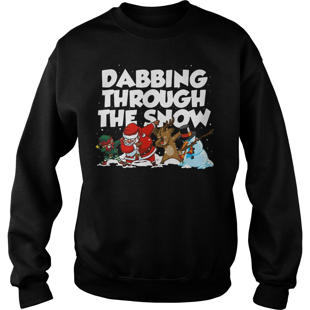 Dabbing through the snow sweater