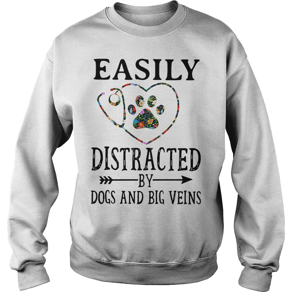 Easily distracted by dogs and big veins Sweater