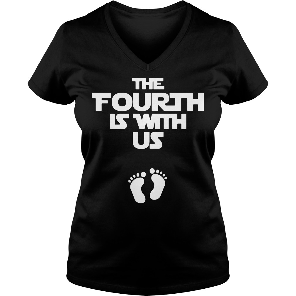 The fourth is with us V-neck T-shirt