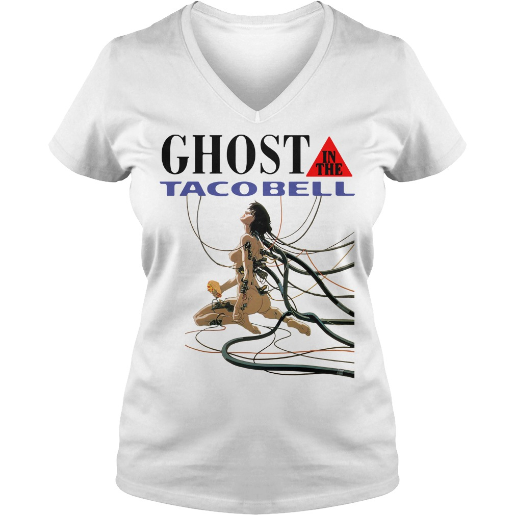 Ghost in the taco bell V-neck T-shirt