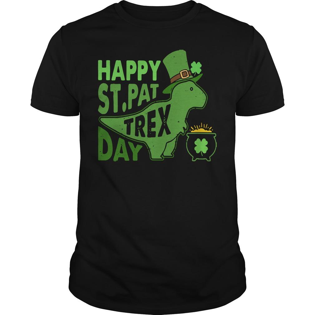 Happy St. Pat T-rex day cute St. Patrick's shirt