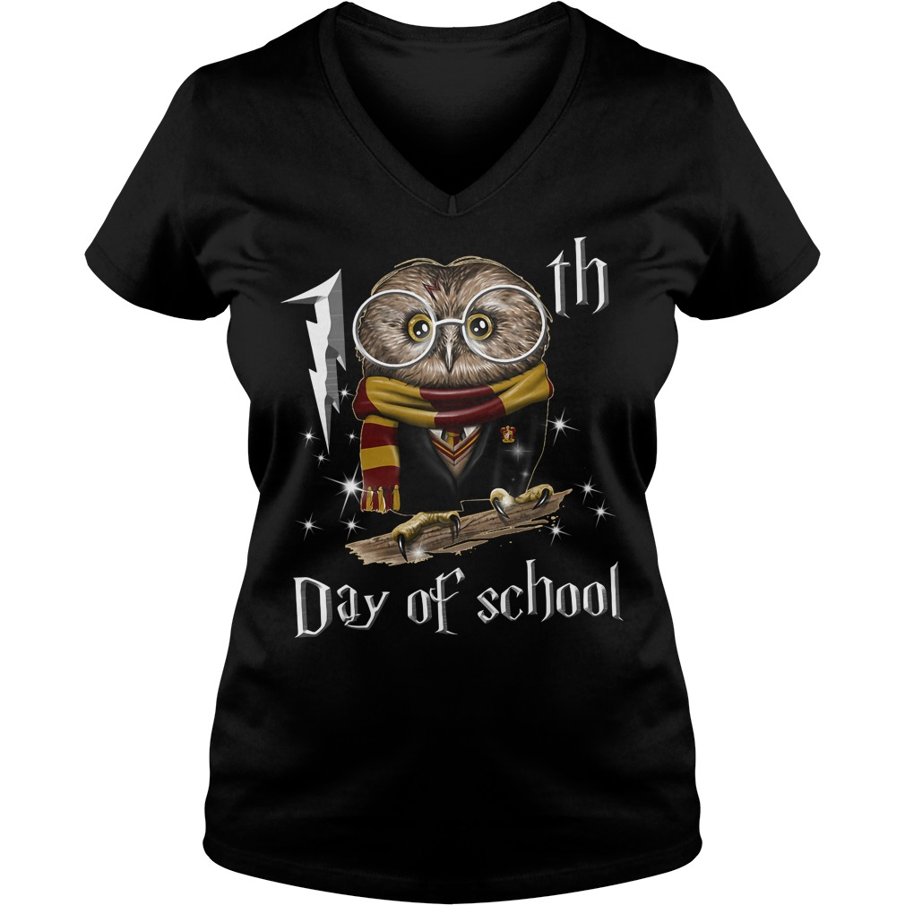 Harry Potter 100th day of school V-neck T-shirt
