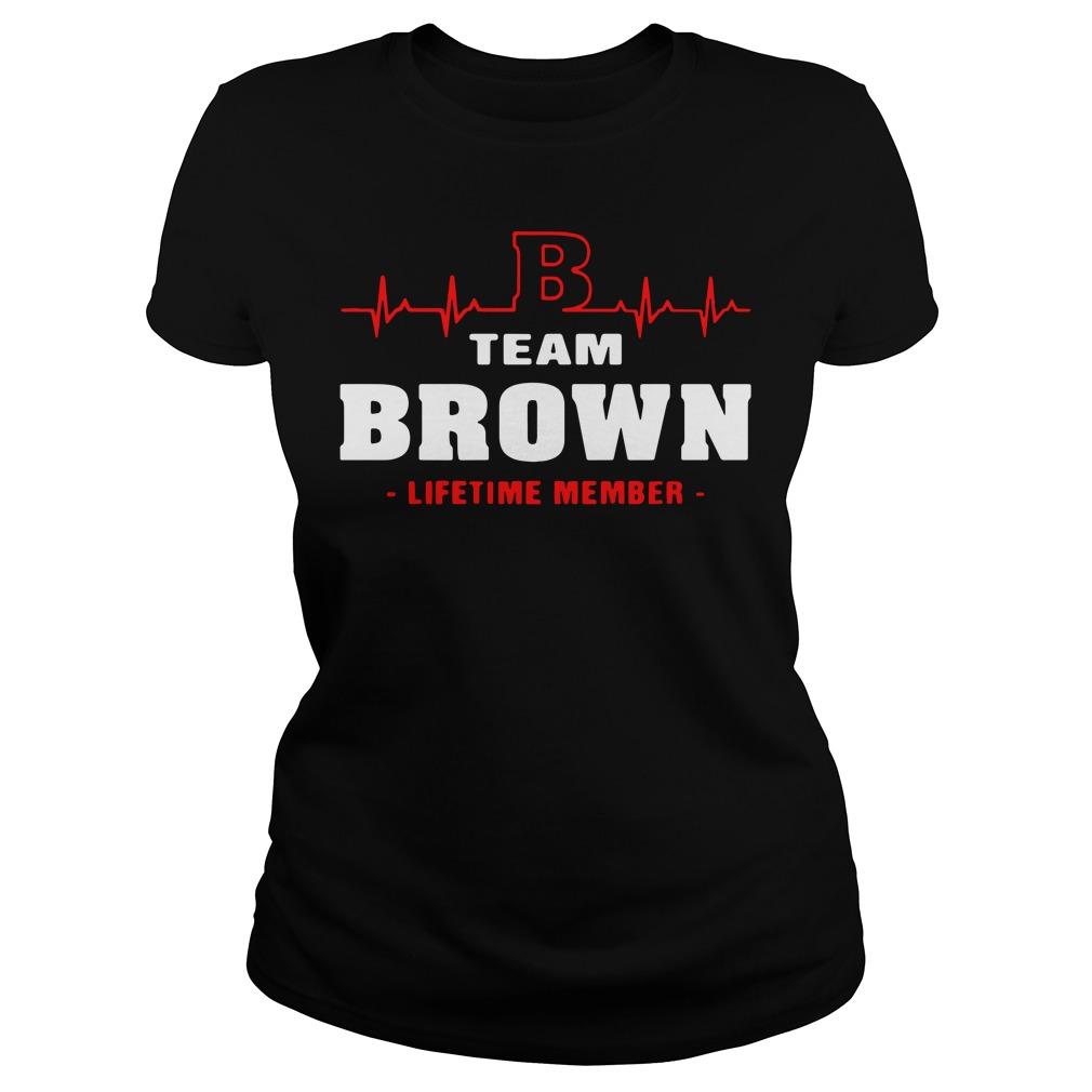 Heartbeat B team Brown lifetime member Ladies tee