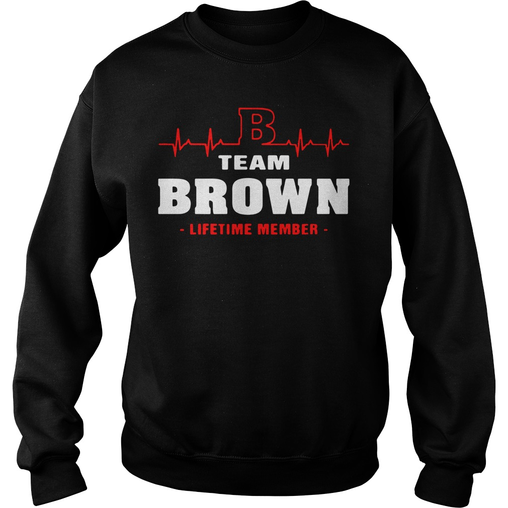 Heartbeat B team Brown lifetime member Sweater