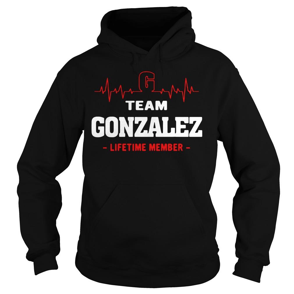 Heartbeat G team Gonzalez lifetime member Hoodie