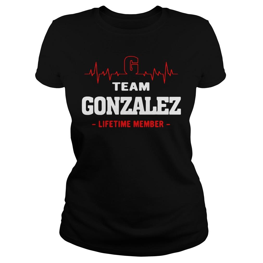 Heartbeat G team Gonzalez lifetime member Ladies tee