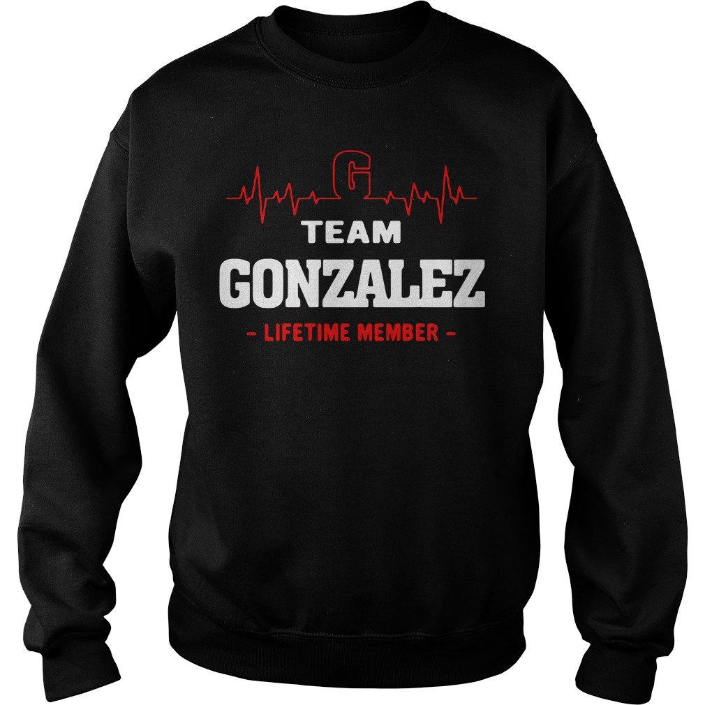 Heartbeat G team Gonzalez lifetime member Sweater
