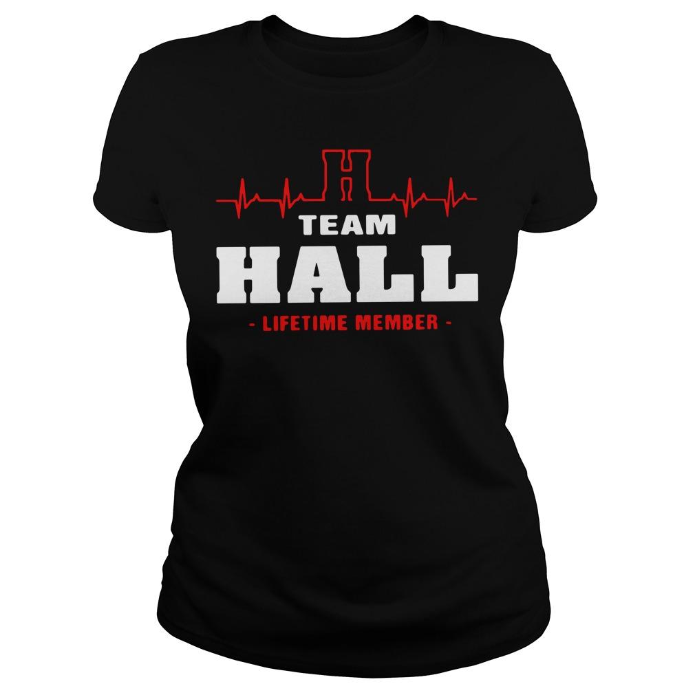 Heartbeat H team Hall lifetime member Ladies tee