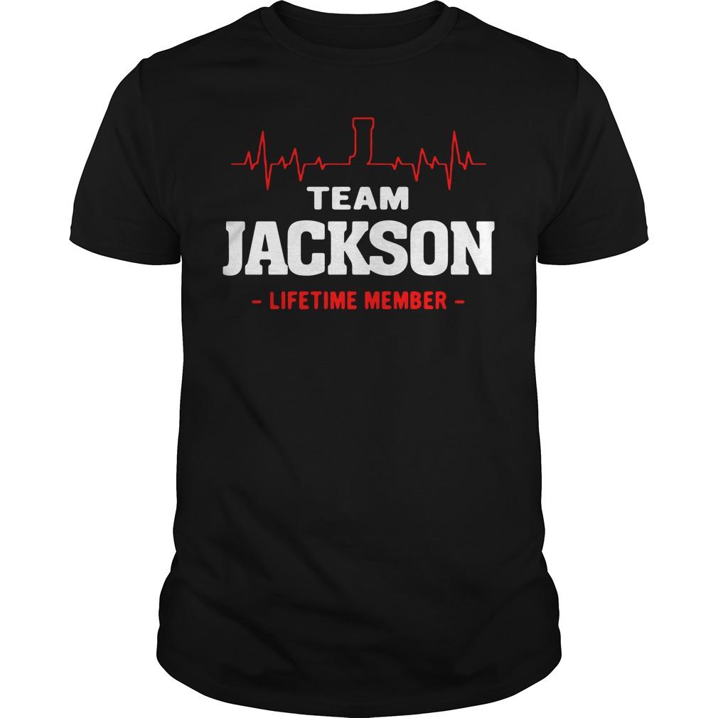 Heartbeat J team Jackson lifetime member Guys shirt