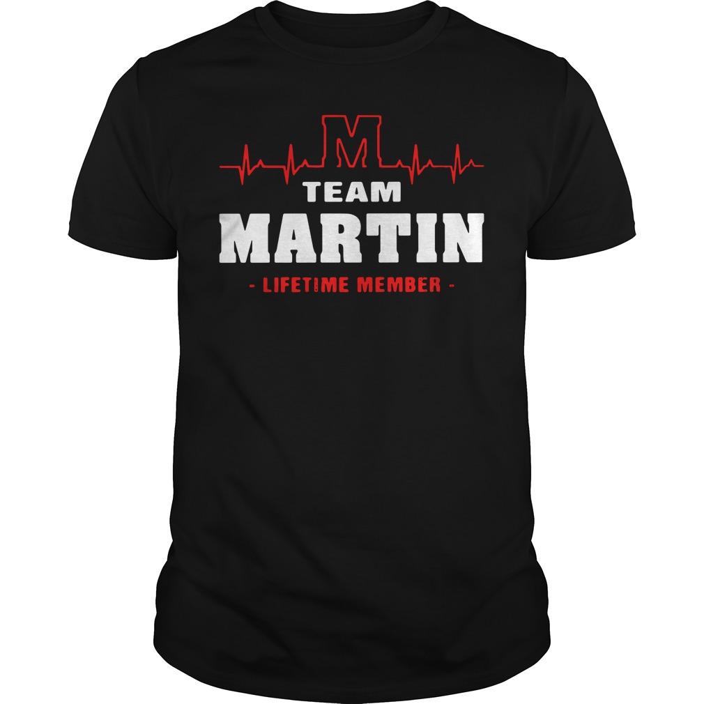 Heartbeat M team Martin lifetime member Guys shirt