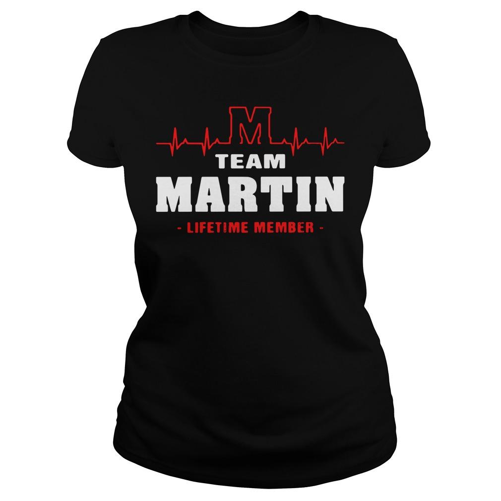 Heartbeat M team Martin lifetime member Ladies tee