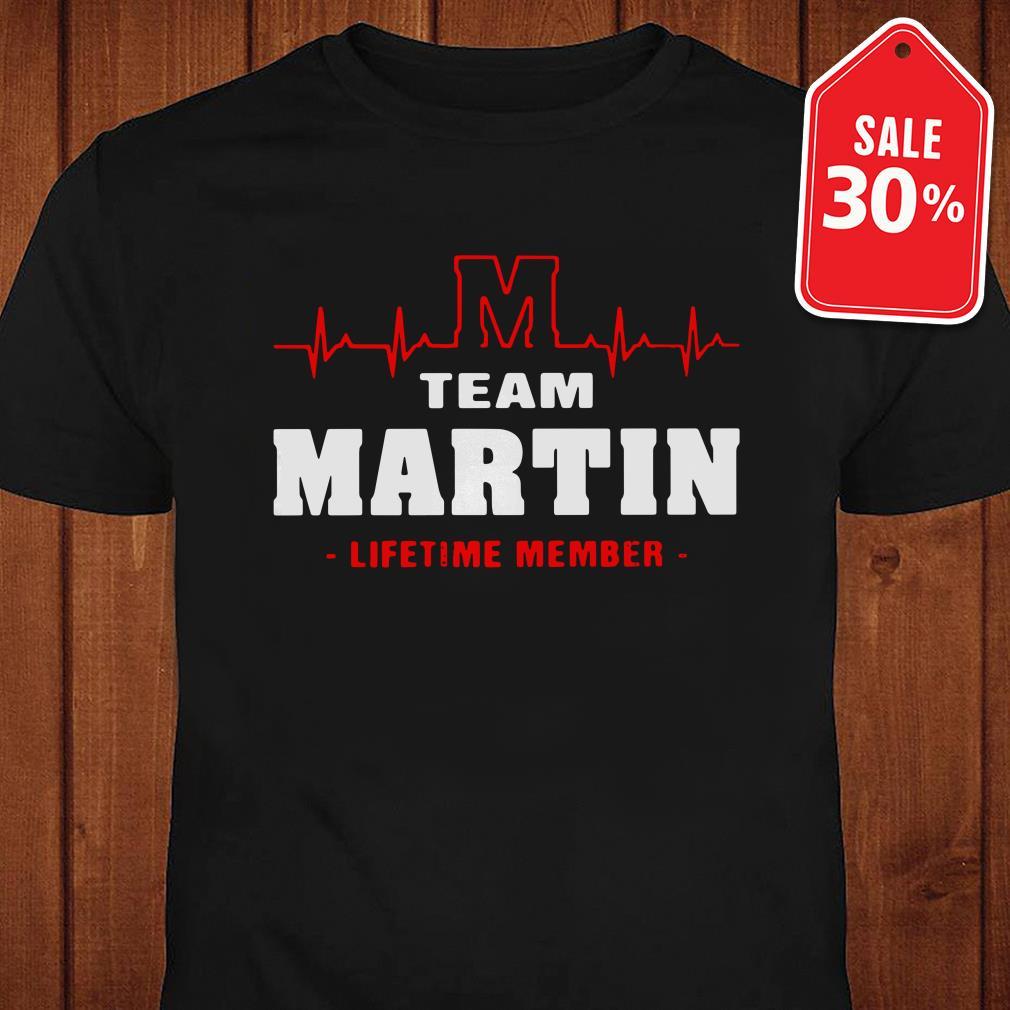 Heartbeat M team Martin lifetime member shirt