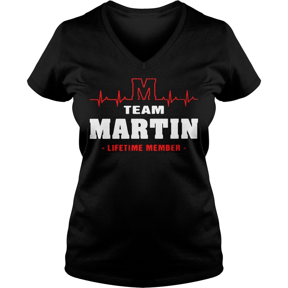 Heartbeat M team Martin lifetime member V-neck T-shirt