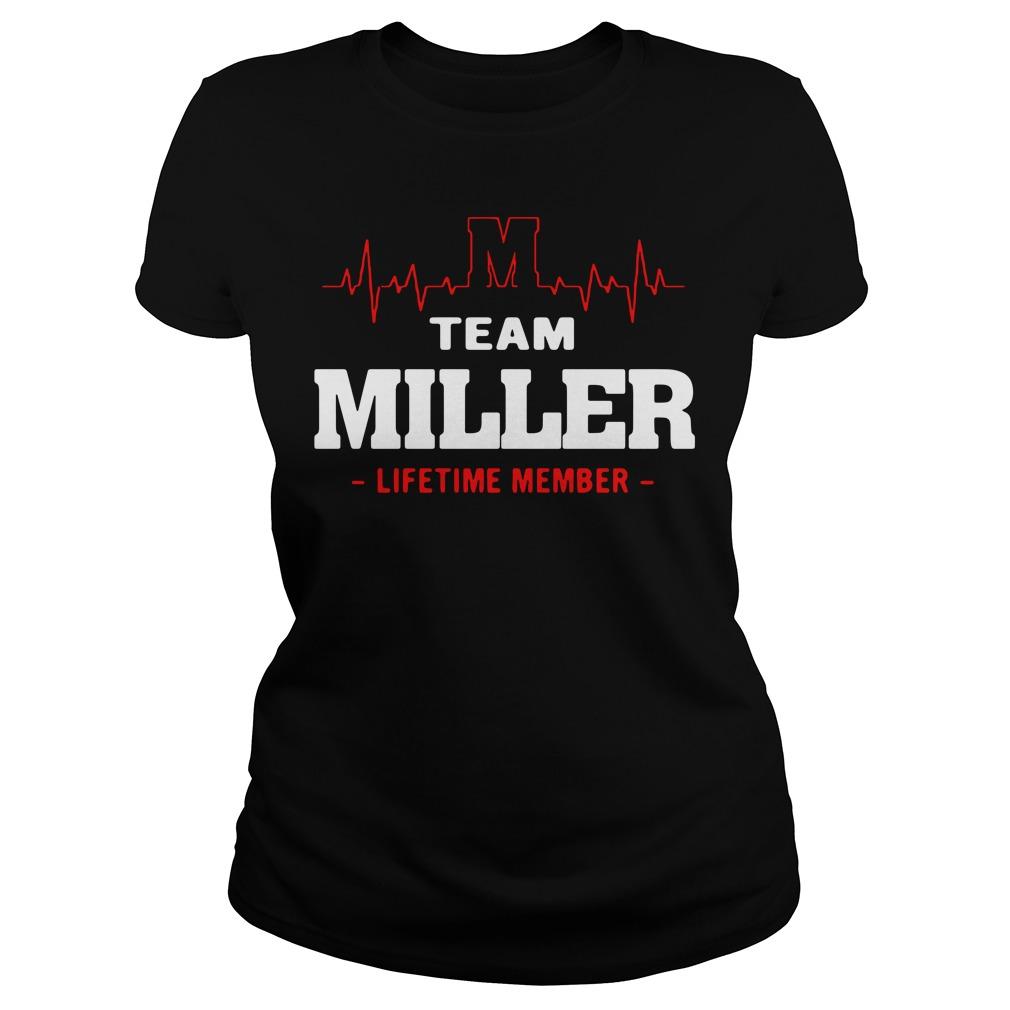 Heartbeat M team Miller lifetime member Ladies tee