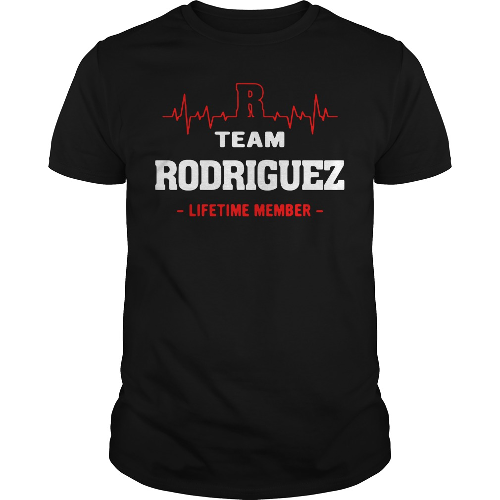 Heartbeat R team Rodriguez lifetime member Guys shirt