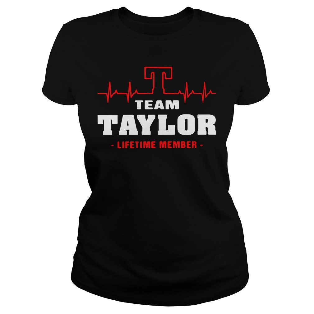 Heartbeat T team Taylor lifetime member Ladies tee