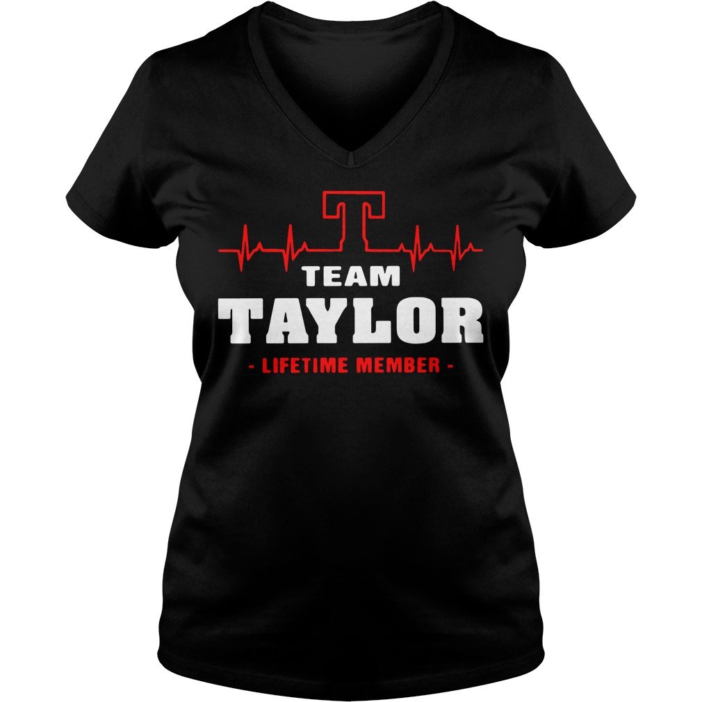 Heartbeat T team Taylor lifetime member V-neck T-shirt