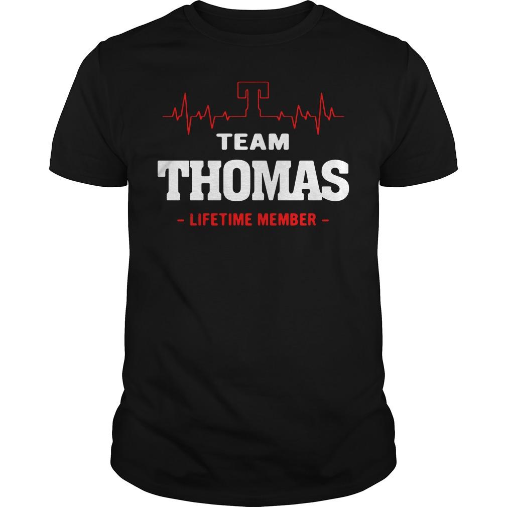 Heartbeat T team Thomas lifetime member Guys shirt