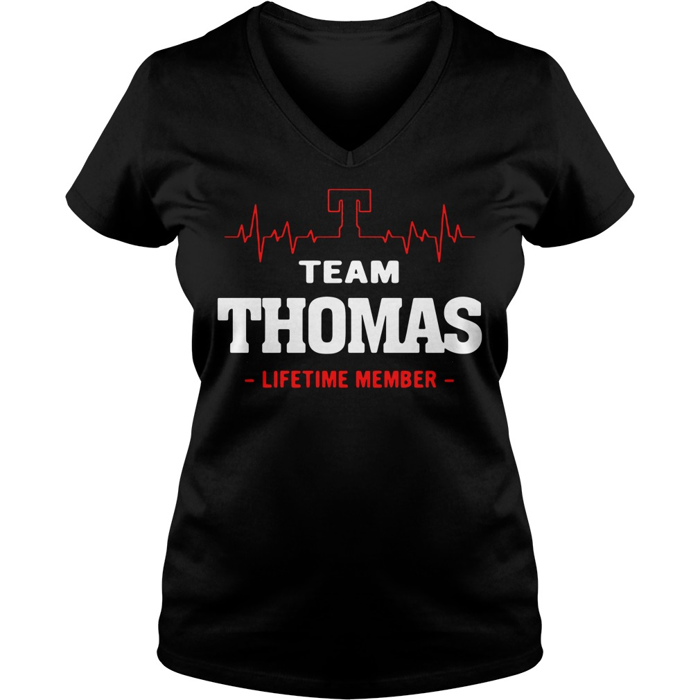 Heartbeat T team Thomas lifetime member V-neck T-shirt