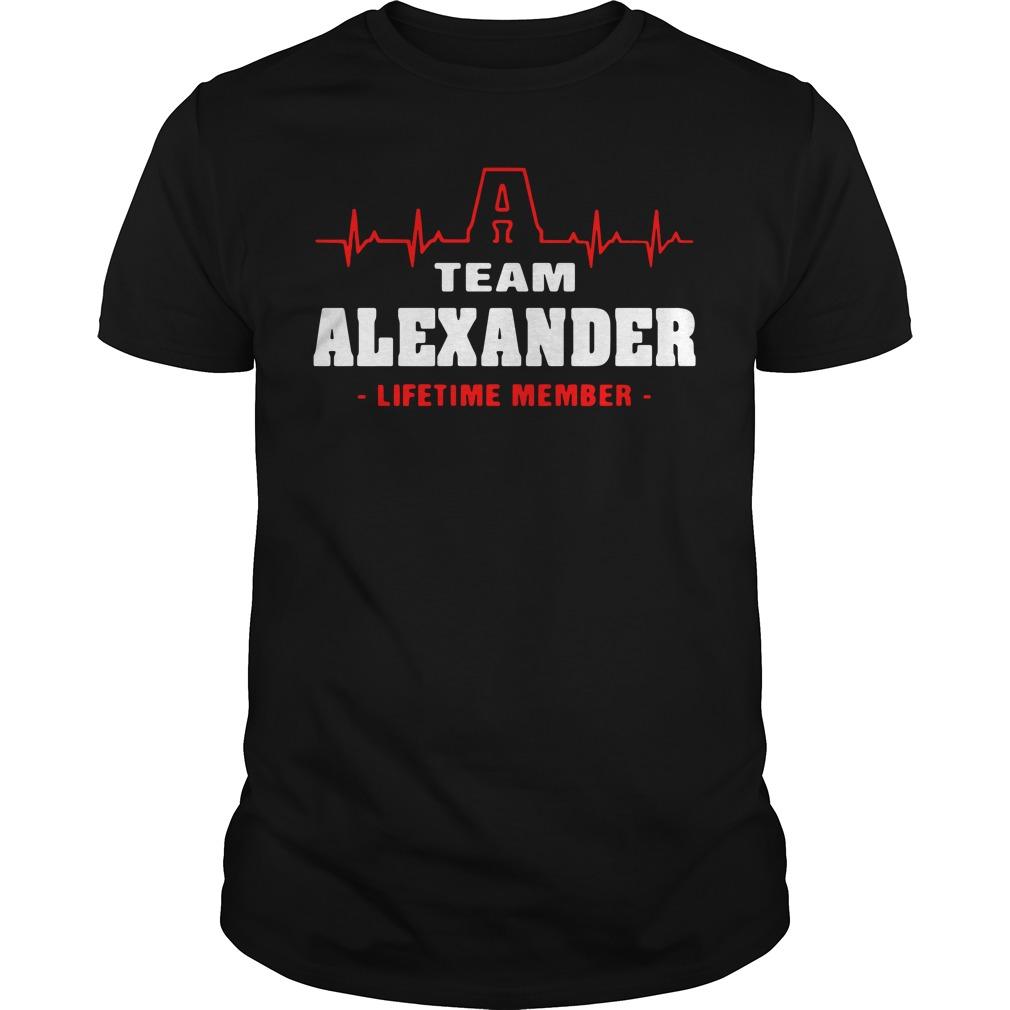 Heartbeat A team Alexander lifetime member shirt