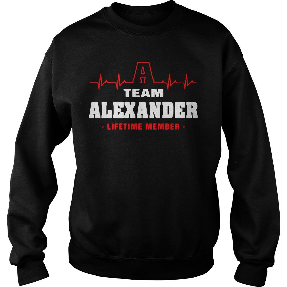 Heartbeat A team Alexander lifetime member Sweater