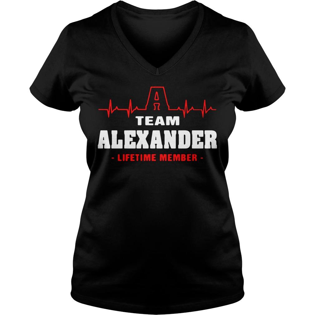 Heartbeat A team Alexander lifetime member V-neck T-shirt