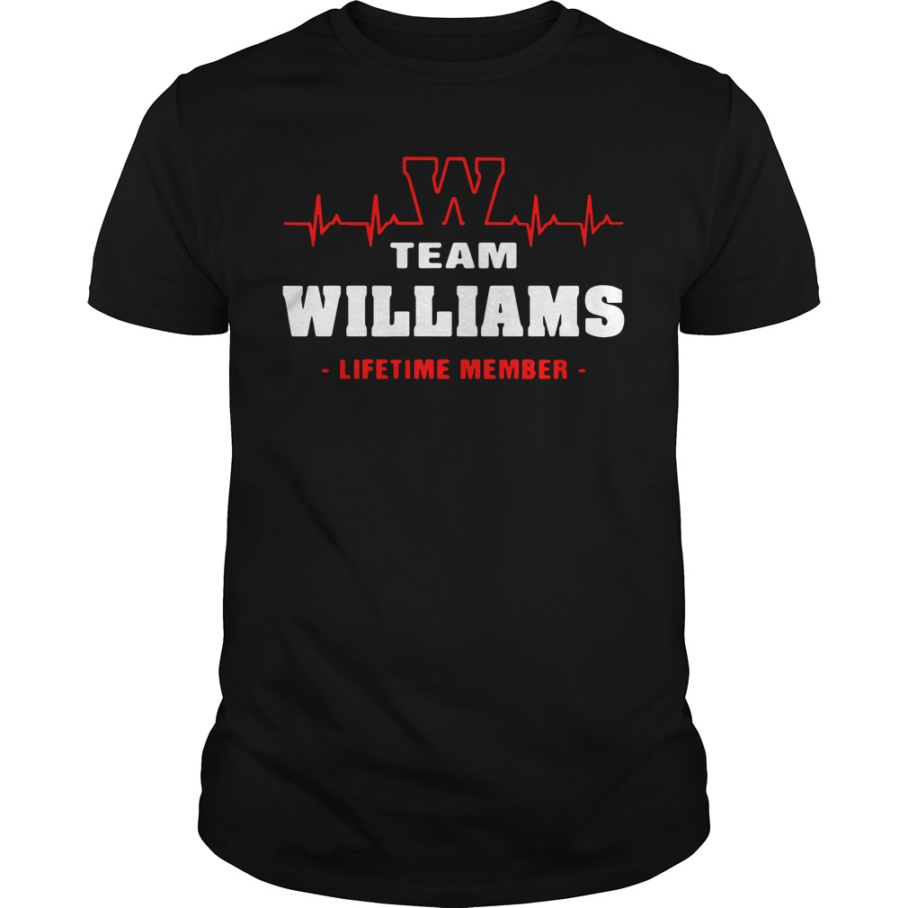 Heartbeat W team Williams lifetime member shirt