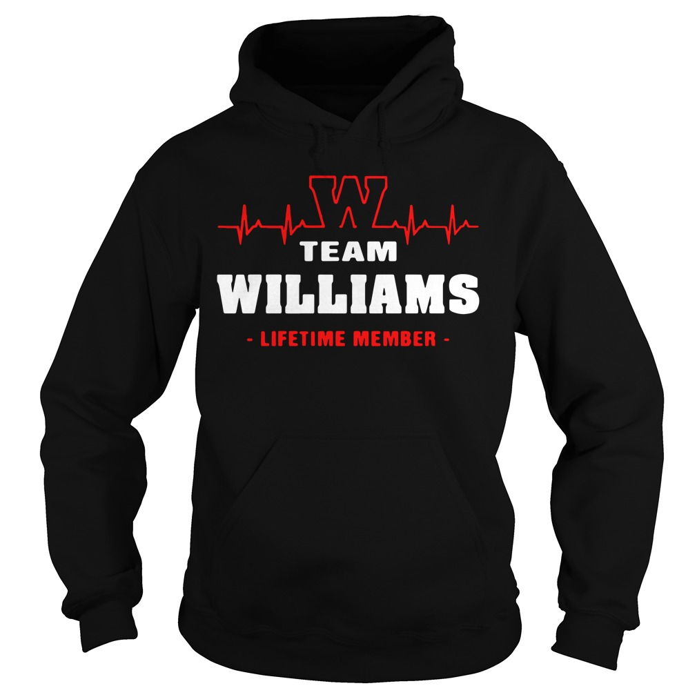 Heartbeat W team Williams lifetime member Hoodie