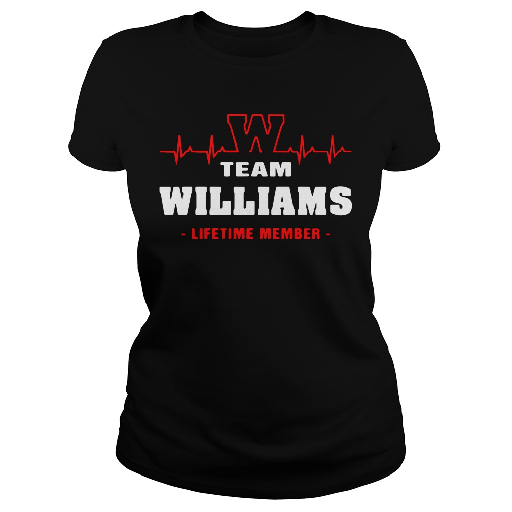 Heartbeat W team Williams lifetime member Ladies tee