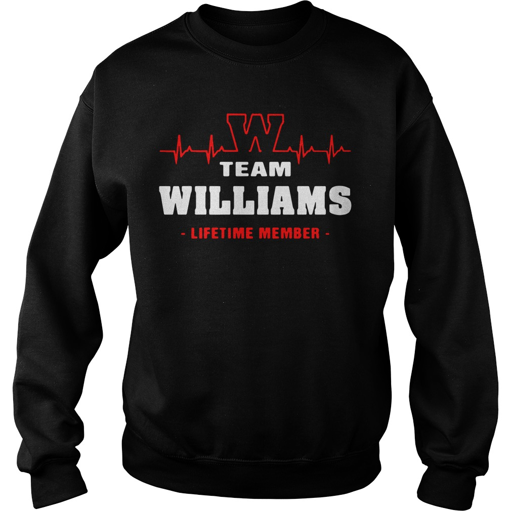 Heartbeat W team Williams lifetime member Sweater