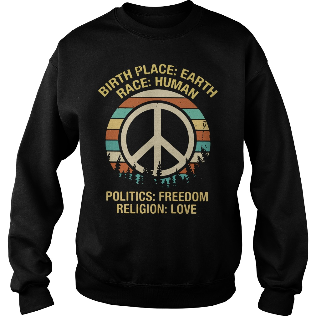 Hipple birthplace earth race human politics freedom religion Sweater