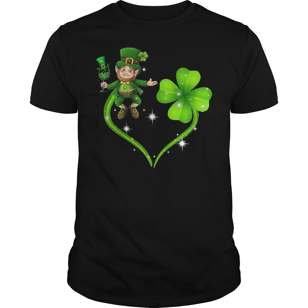 Irish day Leprechaun and Shamrock love Guys shirt