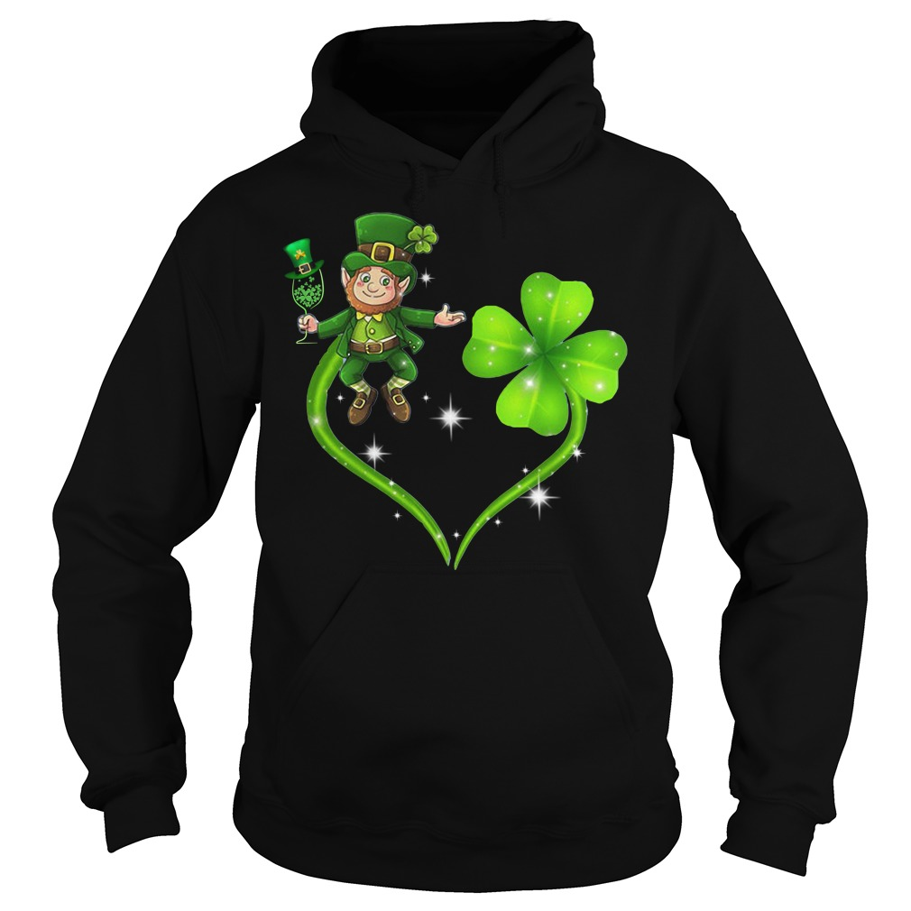 Irish day Leprechaun and Shamrock love Hoodie