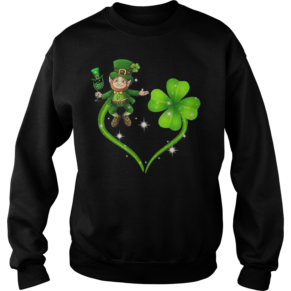 Irish day Leprechaun and Shamrock love Sweater